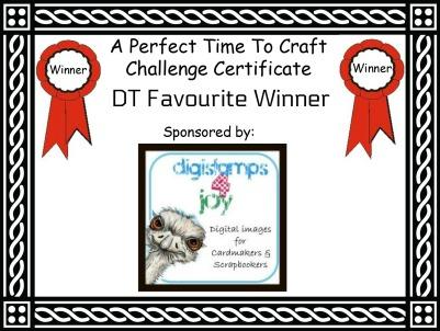 DT Favourite Winner Certificate