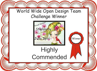 Highly Commended Winner Certificate for World Wide